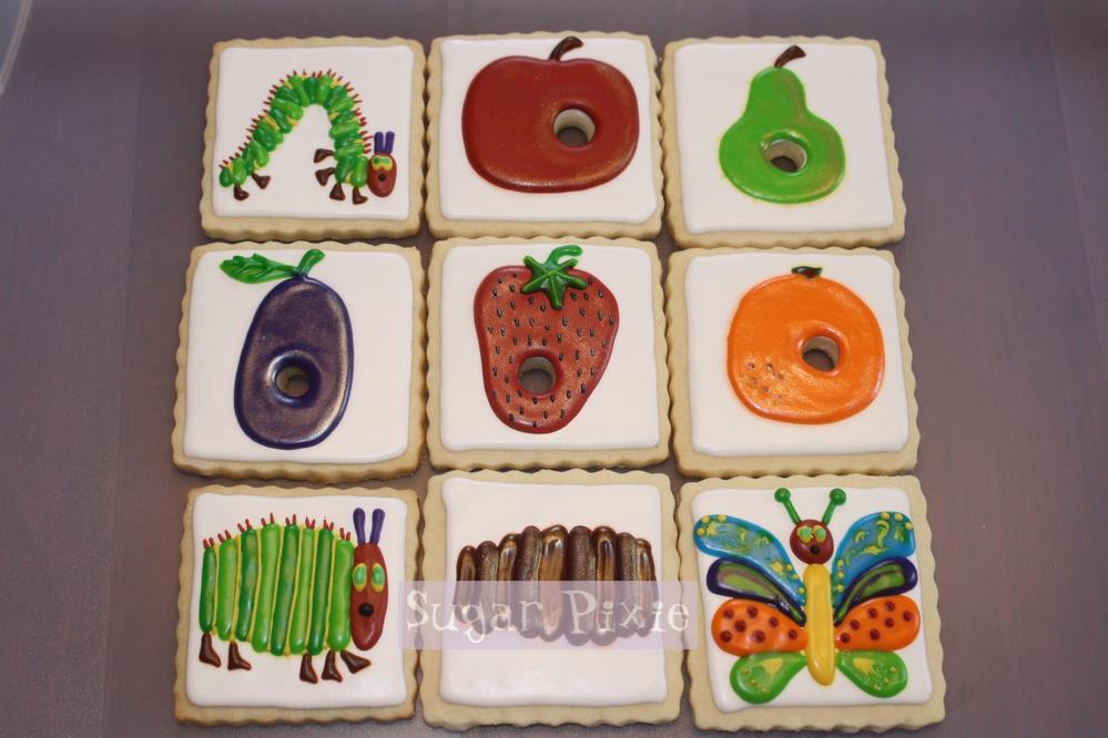 Hungry Caterpillar Cookies