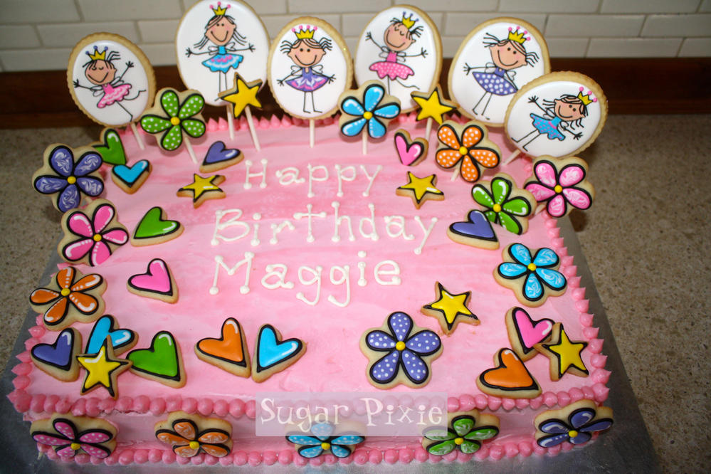 Fairy Princess Cake Images : Fairy Princess Birthday Cake and Cookies Cookie Connection
