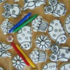 Coloring page cookies