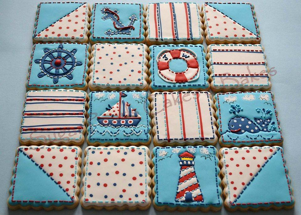 Quilt blocks cookie set