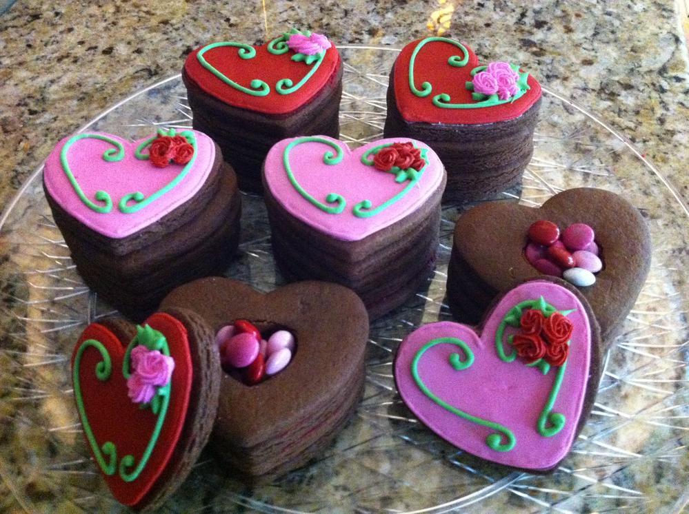 3D Valentines Cookies