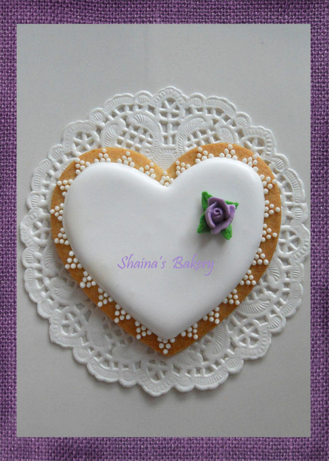 Wedding Violet Rose Heart