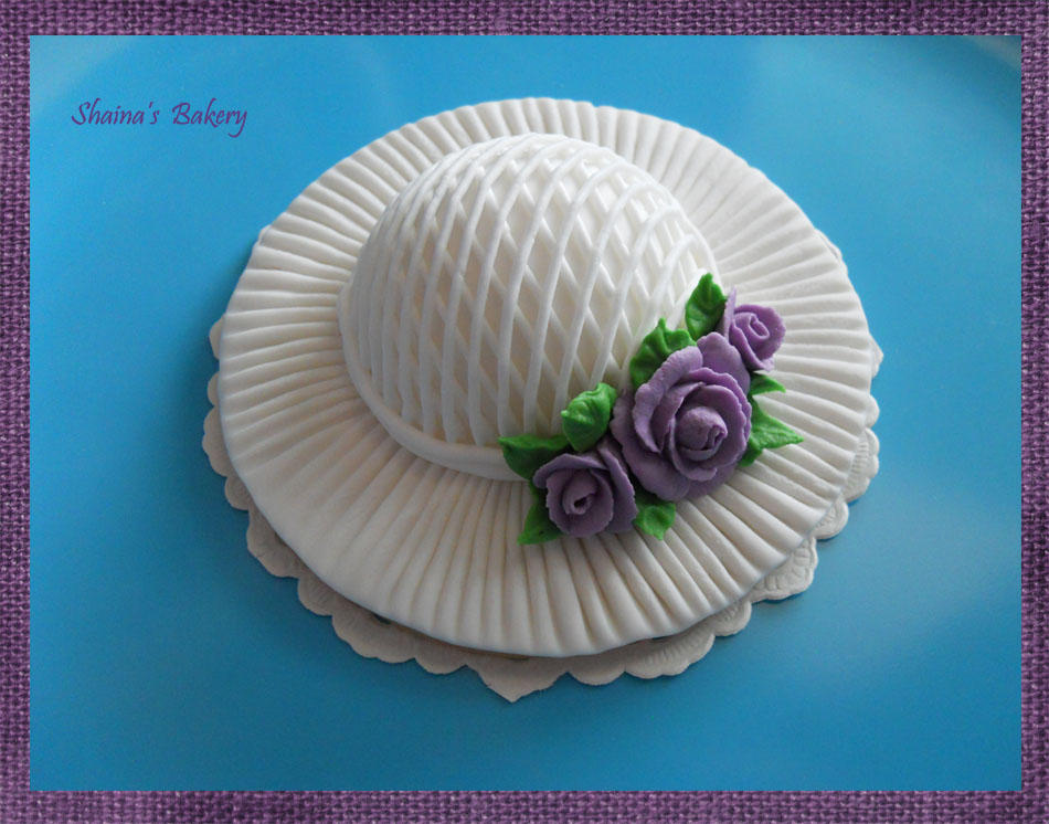 Wedding Hat with Violet Roses