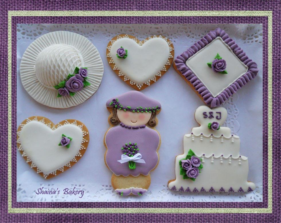 Wedding Set - Violet Roses