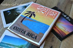 Costa Rican Sunset Postcard - Vintage Style