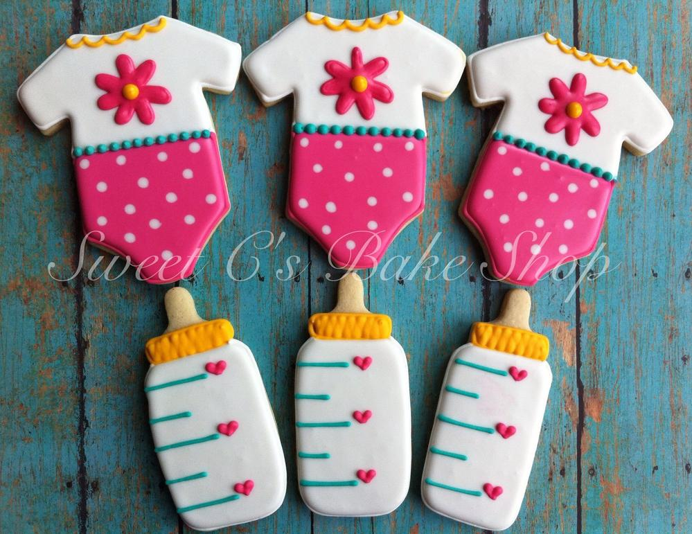 baby girl shower cookies  cookie connection, Baby shower invitation