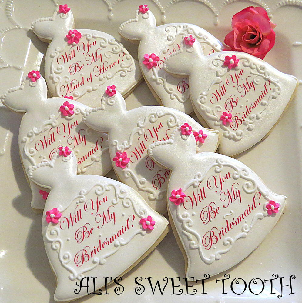 Ali's Sweet Tooth Will You Be My Bridesmaid Cookies