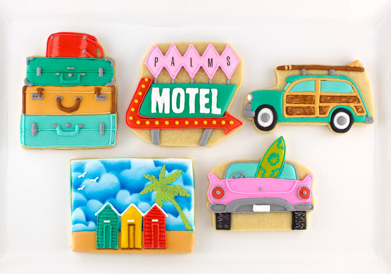 Vintage Beach Vacation Cookies