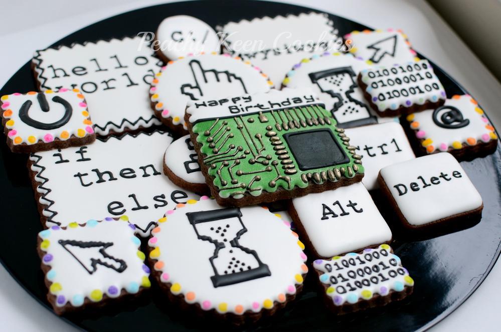 Laptop Birthday Cake