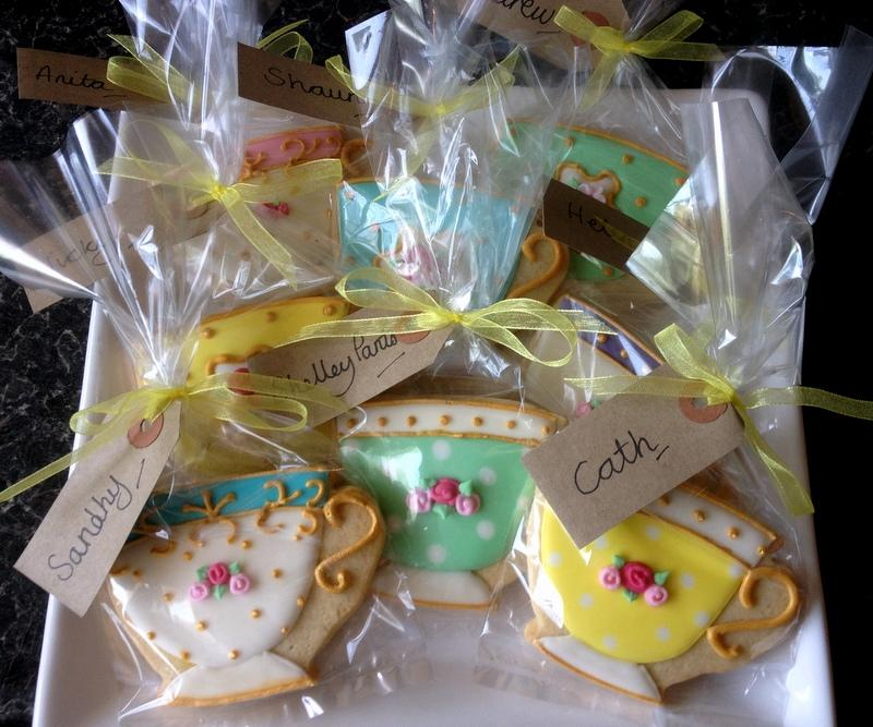 Vintage Teacup Favours For An Afternoon Tea Party Cookie