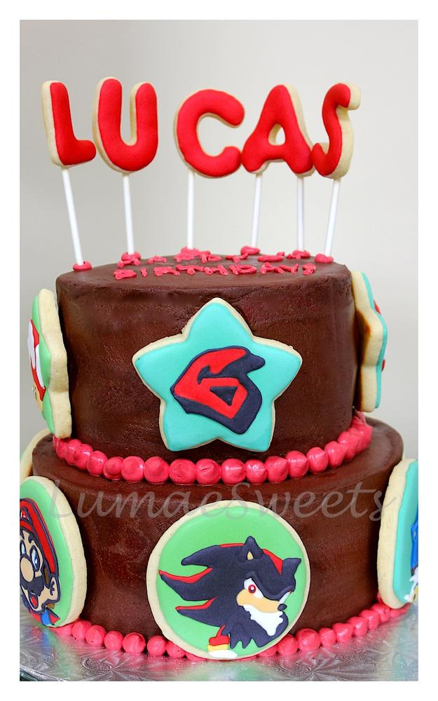 6th birthday cookie-cake