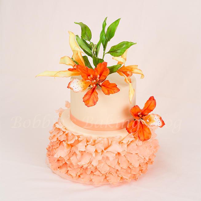 Flamboyant Mayflower Petal Cake