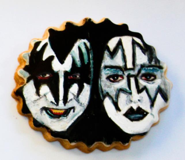 Kiss Rock Band Portrait Cookie Gene Simmons