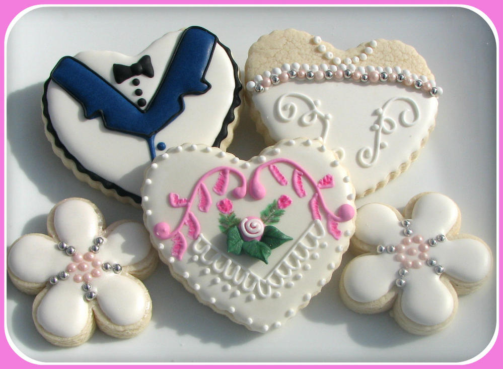 wedding party custom cookie favors