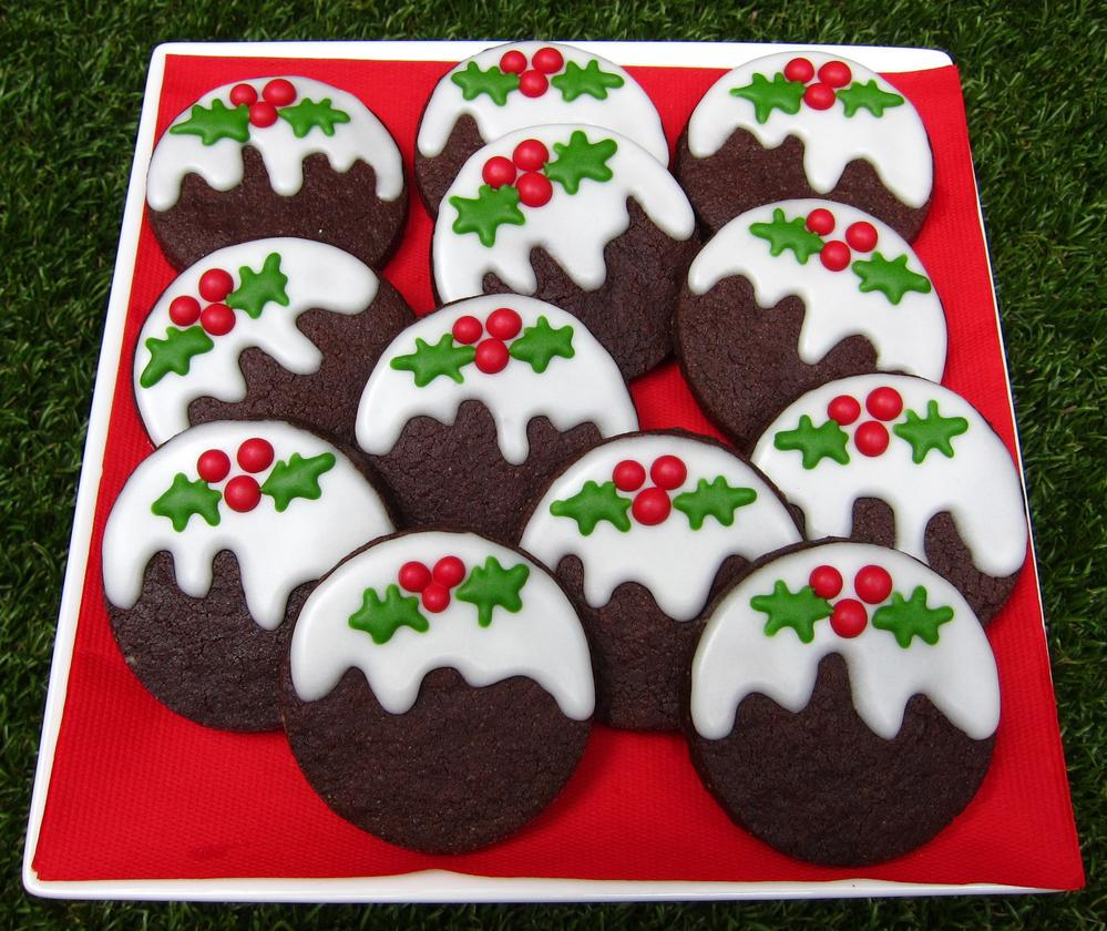 Chocolate Christmas pudding cookies | Cookie Connection