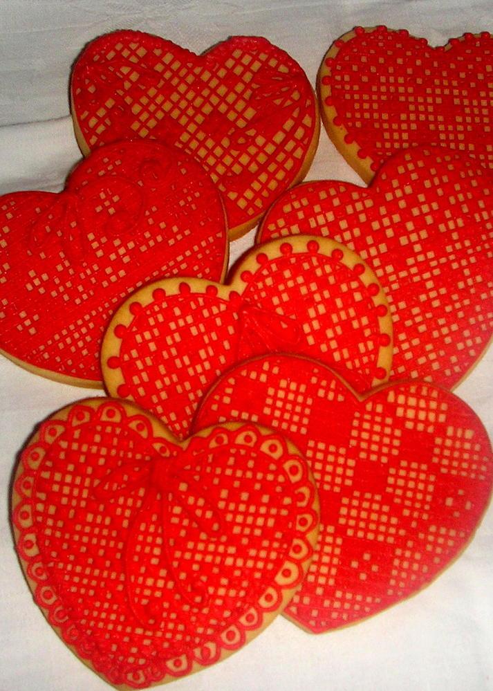 cuori rossi filet