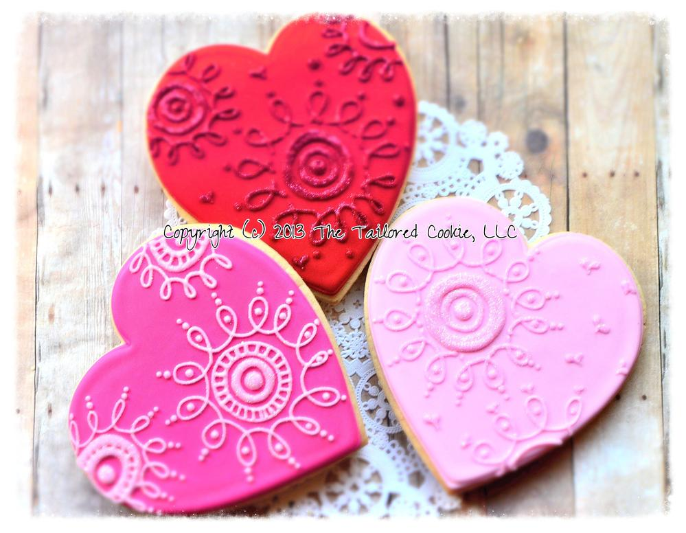 Hearts by The Tailored Cookie