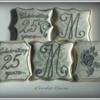 25th Wedding Anniversary Cookies