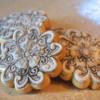 Glazed mandala sugar cookies