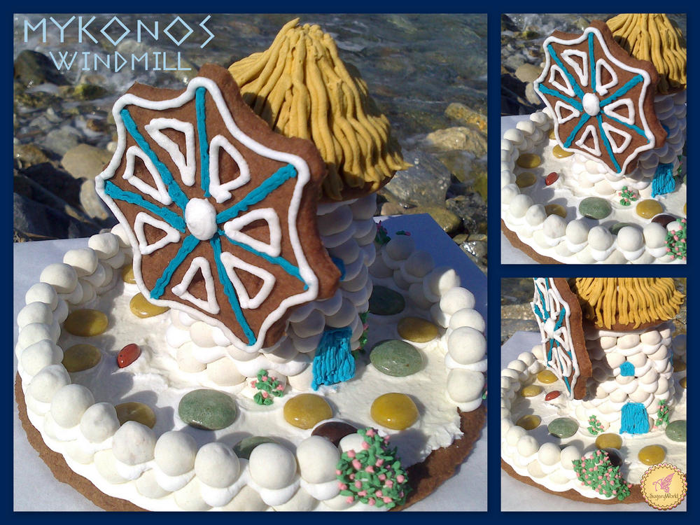 3D cookie and candy windmill