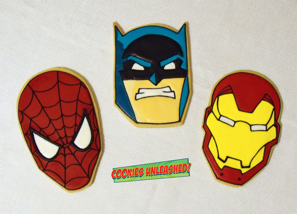 Spiderman, Batman & Iron Man