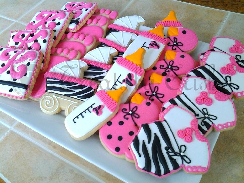 Pink And Black Baby Shower Cookies Treatsbytrish Cookie Connection