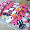 Pink and Black Baby Shower Cookies - TreatsbyTrish