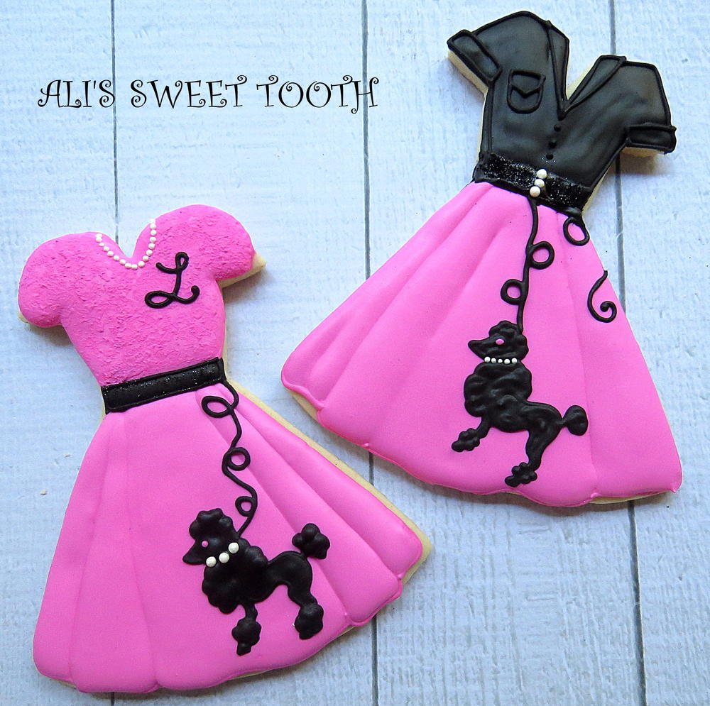 Ali's Sweet Tooth Poodle Skirt Cookie