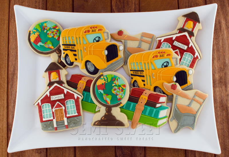Vintage Back to School cookie set