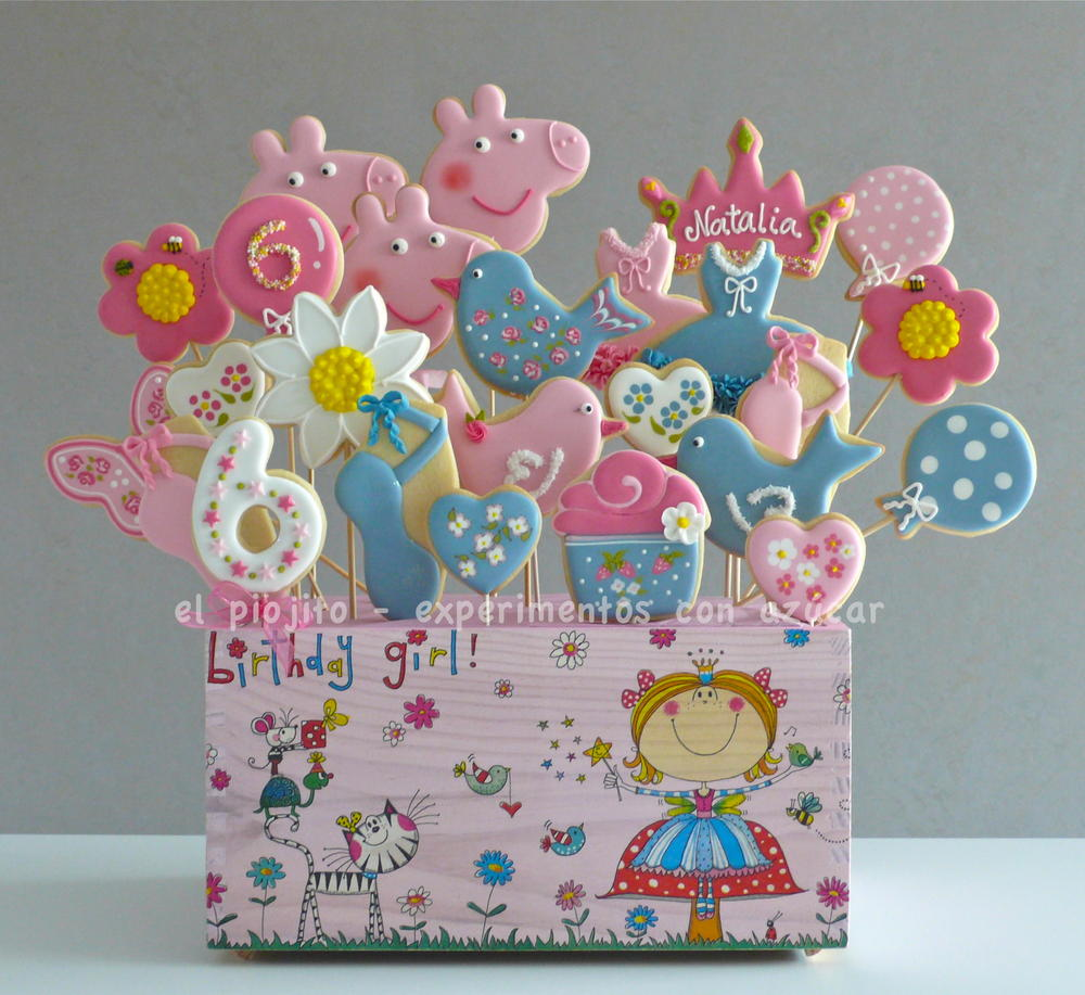 Peppa Pig Party Cookie Bouquet Cookie Connection