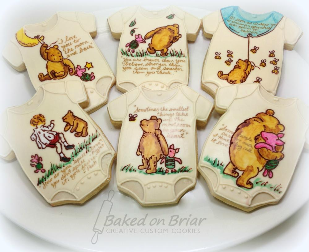 Classic Pooh Onesie Favors 10 Cookie Connection