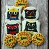 Girl Owl Superhero Cookies
