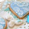 cuore azzurro,tecnica brush embroidery....