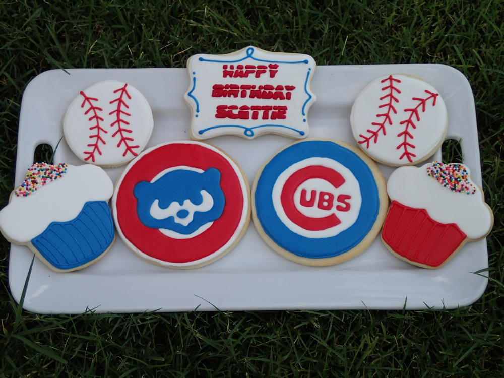 Astonishing Chicago Cubs Birthday Set Cookie Connection Funny Birthday Cards Online Aeocydamsfinfo