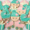 Tiffany Inspired Baby Shower Cookies