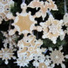 Gingerbread Snowflake Ornaments