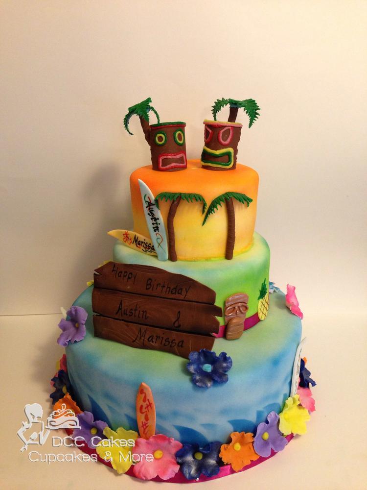 Luau Birthday Cake Cookie Connection