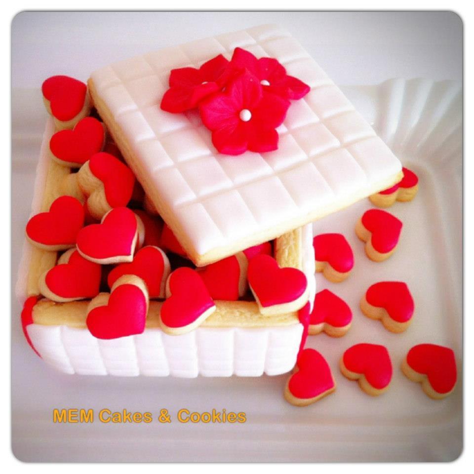 Cajita de corazones para san valent n cookie connection - Corazones de san valentin ...