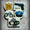 Police Officer Decorated Birthday Cookies
