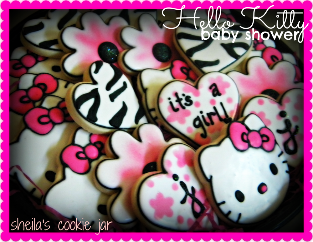 Hello Kitty Baby Shower Cookie Connection