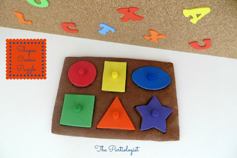 Chocolate Shapes Puzzle Cookie!