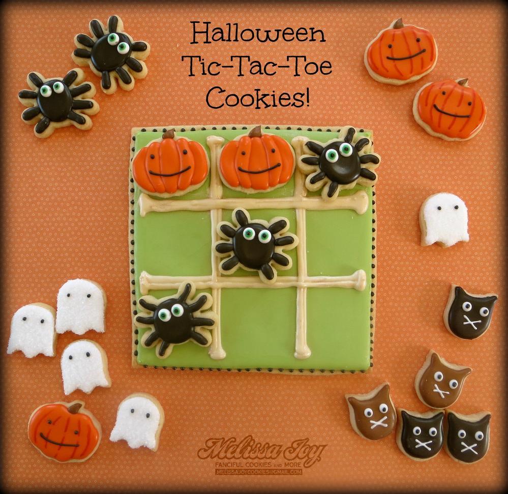 Halloween Tic-Tac-Toe Cookies by Melissa Joy