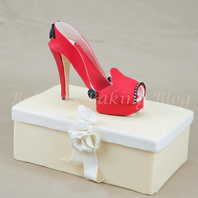 Wicked Red Fondant High Heel