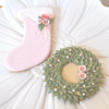 Victorian Christmas Stocking and Wreath Cookies