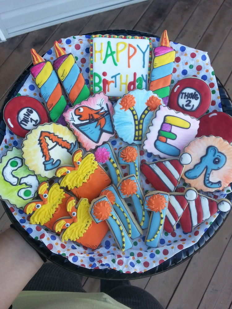 Dr. Seuss themed cookies!