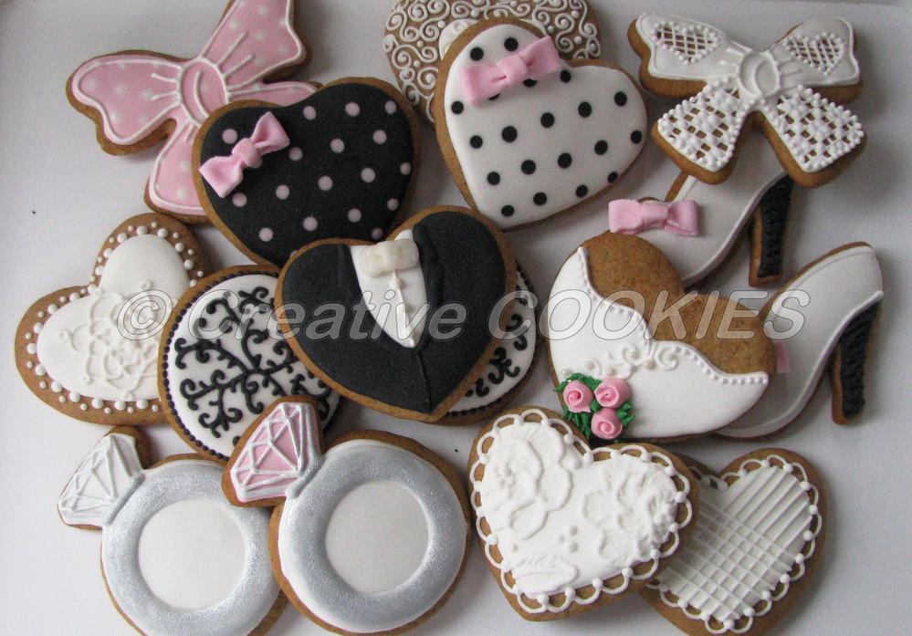 marias bridal shower cookies