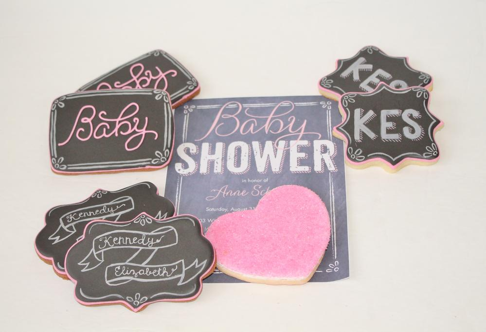 Chalkboard Baby Shower Cookies