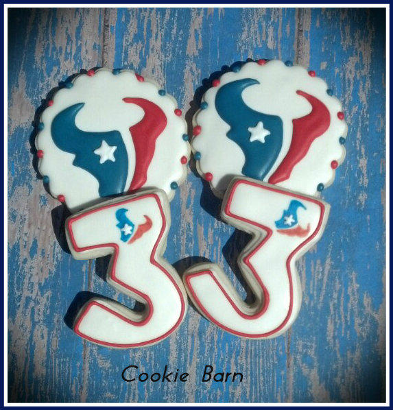 Nfl Houston Texans Football Decorated Cookies Cookie Connection