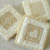 White-on-White Needlepoint