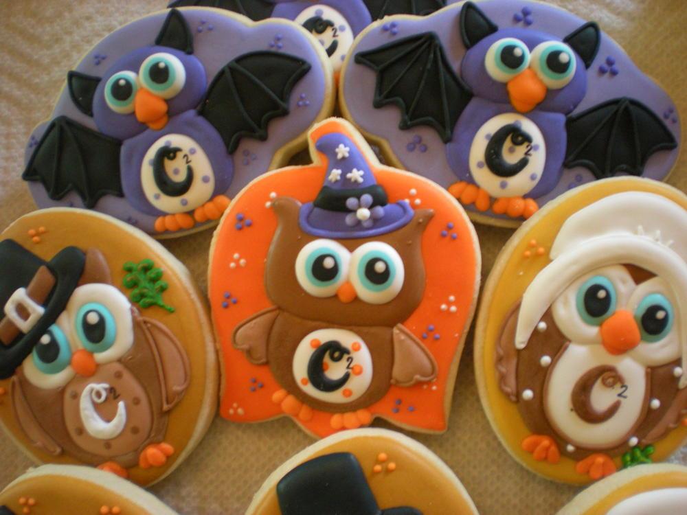 Halloween/Fall Themed Owl Cookies